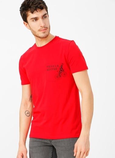 Limon Company Bisiklet Yaka Tişört Kırmızı
